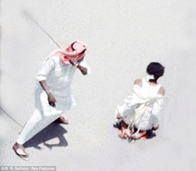 Beheading: The Yemeni citizen was beheaded and crucified for his crimes (Stock Image)Read more: http://www.dailymail.co.uk/news/article-2300656/Saudi-Arabia-beheads-murderer-CRUCIFIES-body.html#ixzz2Ou9XBOob Follow us: @MailOnline on Twitter | DailyMail on Facebook