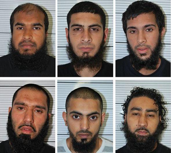 (Top l-r) Anzal Hussain, Mohammed Hasseen, Omar Khan, (bot) Jewel Uddin, Mohammed Saud, Zohaib Ahmed