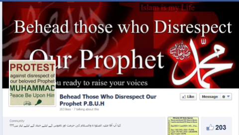Islamic jihadist propaganda Facebook page uncovered Photo credit:  (Paulding County Republican Examiner; Jihad Photo)