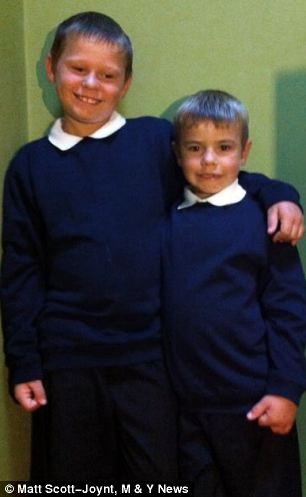 Luke (right picture, stood on the left) was told he could not drink water in case it upset pupils who were fasting