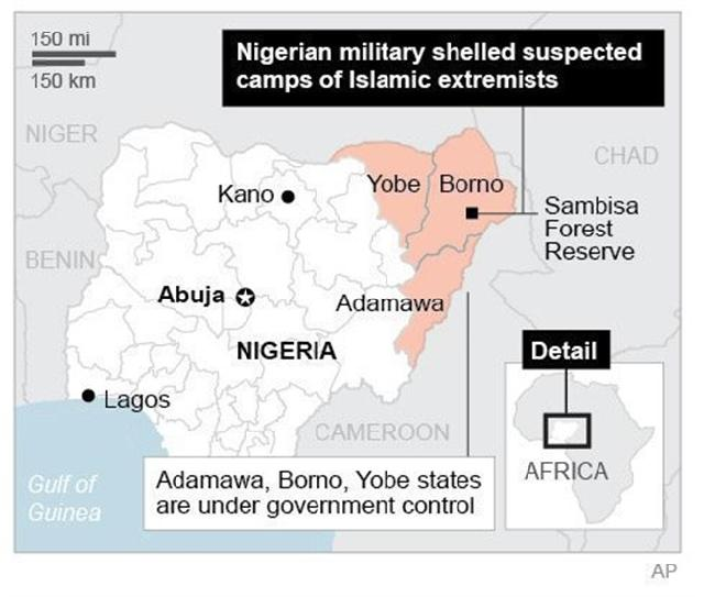 Nigeria: Islamic extremists kill 8; Military warns of planned 'massive attacks' in Maiduguri
