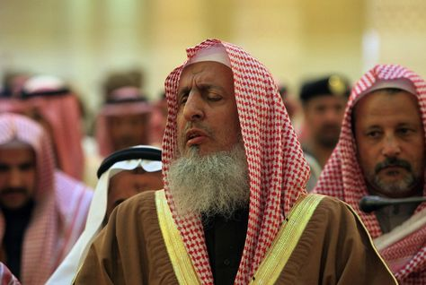 Sheikh Abdul Aziz bin Abdullah made the comment in view of an age-old rule that only Islam can be practiced in the region. (AFP/Getty Images)