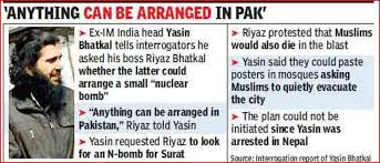 (Yasin himself was the bomb expert of Indian Mujahideen and the outfit's bomb-making capabilities have been affected after his arrest, say intelligence officials.)
