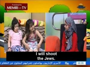 Palestinian TV programming. Photo: MEMRI Screenshot.